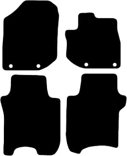 Carsio Tailored Black Carpet Car Mats for Honda Jazz 2011 to 2015-4 Piece Set