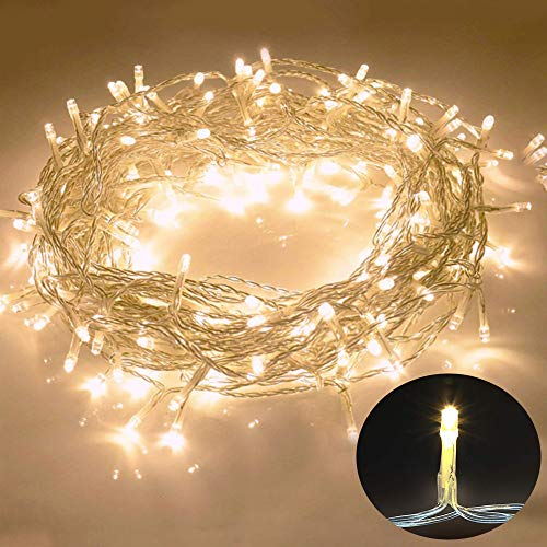 Galaxer Luces de Hadas 80 Pcs LED Night Christmas String Light 33Ft / 10M dos Modos Luz Constante/Parpadeo Luz...