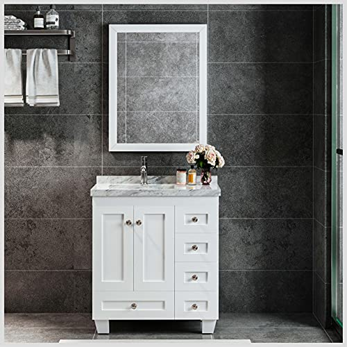 Eviva Happy Bathroom Vanity with sink 30 inches Single...