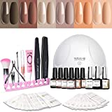 Modelones Gel Nail Polish Kit with UV Light - 6 Nude Colors in - Best Reviews Guide