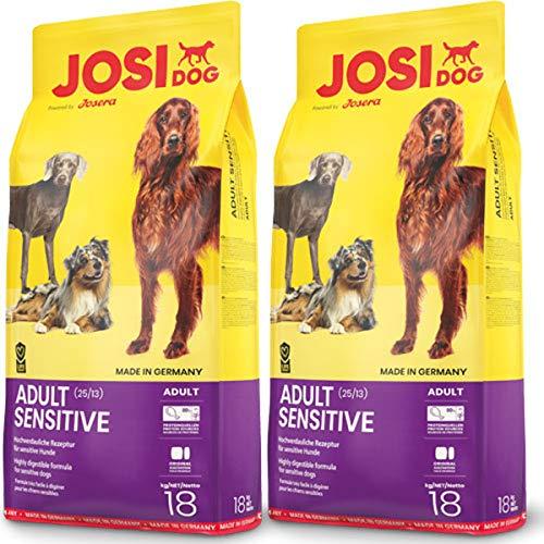 JosiDog 2 x 18 kg Josera Adult Sensitive, Nachfolger von Fitness