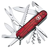 Victorinox Couteau d'officier Huntsman Lite rouge transparent