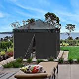 Yescom 1Pc 10x10 Ft EZ Pop Up Canopy Tent Side Wall 1080D 120g Party Tent Shelter Sun Wall Sidewall with Zipper Black