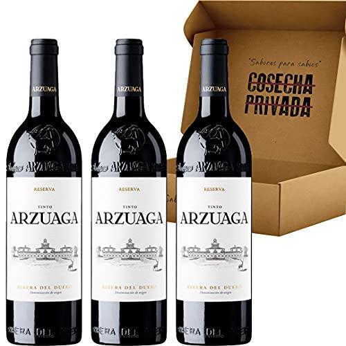 Arzuaga Crianza - Envío Gratis 24 H - Vino Tinto Ribera del Duero - Caja de 3 Botellas -Vino Regalo - Seleccionado y enviado por Cosecha Privada