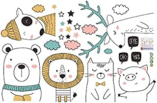 Wall Stickers - DIY Cartoon Pet Wall Stickers Home Living Room Baby Nursery Room Background Wall Decoration Murals Poster ...