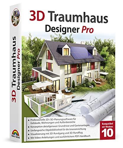 3D Traumhaus Designer PRO - für die Architektur, Haus, Wohnplaner, Garten - für Windows 10-8-7