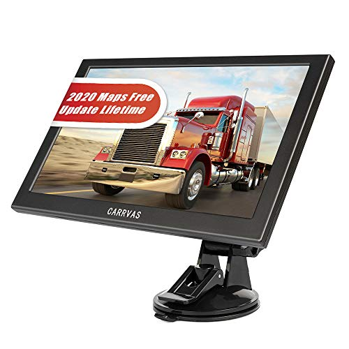 CARRVAS 9 inch GPS Navigation for Truck& car, HD Truck Satellite Navigation System with Truck Height Limit Prompt, Truck Map, Prompt Voice Guidance, Poi, Speed Camera Prompt