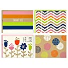 Hallmark Blank Cards (Stripes, Dots, Flowers, 40 Cards with Envelopes), Model Number: 5WDN2067