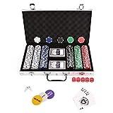 AllRight Poker Chips Set Game Poker Casino Poker Set 300 Pcs In Aluminium
