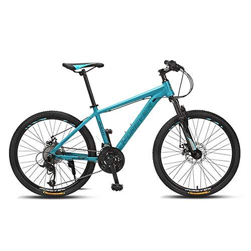 Bicicleta de Montaña, Bicicleta de Velocidad Variable, Ruedas de 24 Pulgadas, 27 Velocidades, Cuadro de AleacióN de Aluminio, Bicicleta con Doble AmortiguacióN, Disponible para Adolescentes