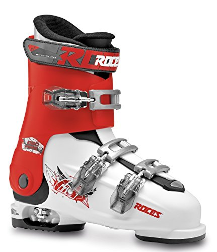 Roces Kinder Idea Free 22.5-25.5 Kinderskischuh-Verstellbar, White-Red-Black, 36-40