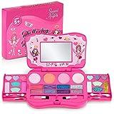 Kids Makeup Kit for Girl Non Toxic, Washable Kids Makeup Set with Mirror in Laptop Design, Play Makeup for Little Girls, Toddler Makeup Kit, Kids Make Up Kit, Makeup Toys for Girls