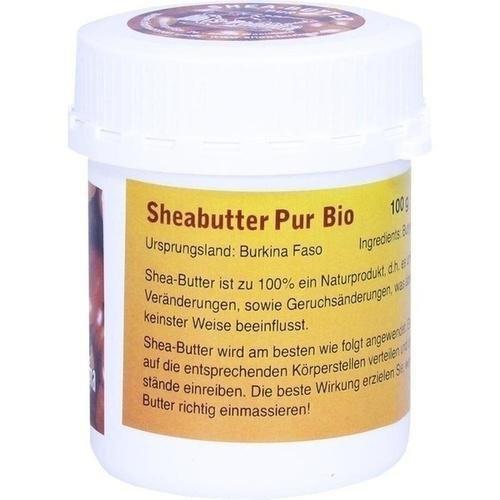 Abis-Pharma Sheabutter Pur Bio, 100g, Shea Butter Bio unraffiniert, ohne Zusätze, vegan, Fair-Trade aus Burkina Faso