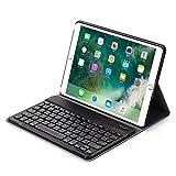 iPad Pro 10.5 Hebrew Keyboard Case,DTBAK Detachable Recharegable Wireless Bluetooth Keyboard with Smart Slim Folio Stand PU Leather Case Cover (Black)