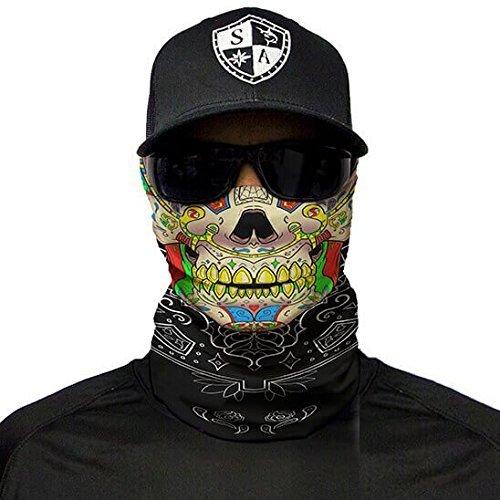 SA Fishing - hochwertiger Gesichtsschutz, Multifunktionstuch aus Stoff mit LSF 40, Schutzmaske