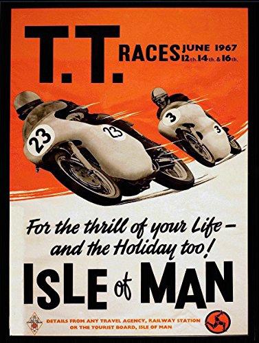 "Motorrad-Nostalgie-Blechschild/Reklameschild, ""TT Races Isle of Man"", Geschenkidee"