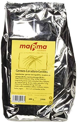 Bionsan Marma Lecitina de Soja, Germen de Trigo y Levadura de Cerveza | 2 Bolsas de 400gr | Total 800gr