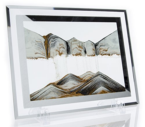 YayaCat Moving Sand Art Picture Sandscapes Desktop Art Toys(Golden,Black,White)