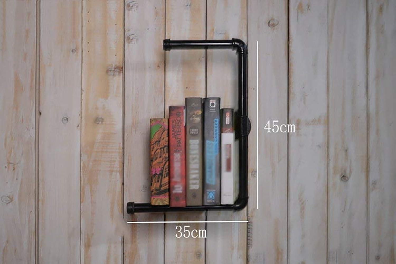 YANG Montar en la Parojo Loft Hacer la Parojo Pipa de Agua Industrial Antigua Diseño Nuevo Librería de Hierro Estante de exhibición Estante
