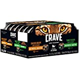 Crave Grain Free Adult Wet Cat Food Chicken & Turkey Recipes Cuts In Gravy Variety Pack, (24) 2.6 Oz. Twin-Pack Trays