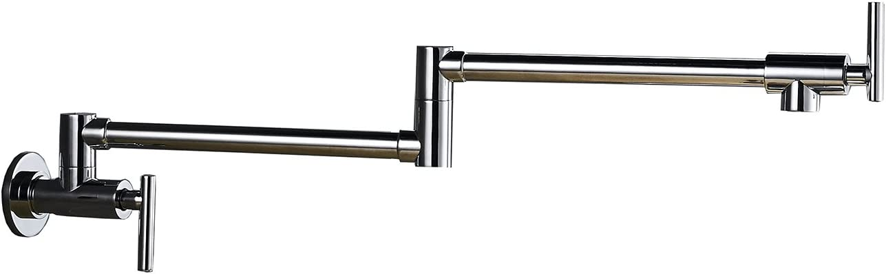 BWE Chrome Commercial Brass Pot store Stretchabl Filler Faucet shipfree Folding