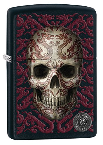 Zippo Anne Stokes-Black Matte-Spring 2017 Lighter, Metal, One Size