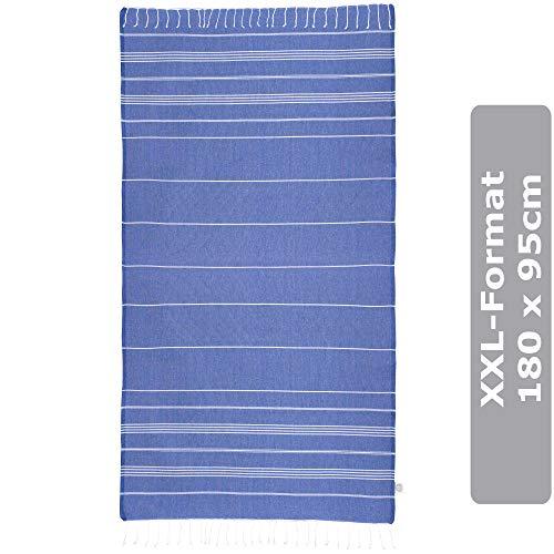 JuliJu XXL Duschtuch Blau - 95x180cm - Badetücher personalisiert - 100% Reine Baumwolle, hautverträglich und antiallergen wirkend - EIN besonderes Geschenk für Ihre Lieben