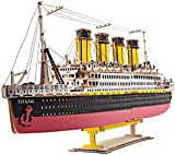 FANPING Puzzle 3D de Madera, 371Pcs Titanic Corte láser Rompecabezas de Madera de construcción Conjunto Asamblea Modelo - Regalo Creativo for niños y Adultos