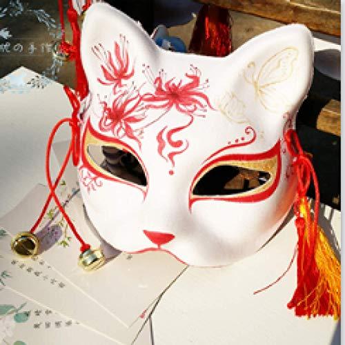 WWWL Máscara de Halloween Nueva Mascarilla de Zorro Privado Japonés Gato Natsume