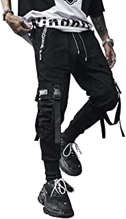 Aelfric Eden Mens Jogger Casual Pants Long Casual Hip hop Jogger Harem Cotton Pant Patchwork Streetwear