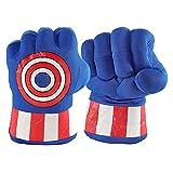 DIKYM Superman Gloves Boxing Gloves Superman Hands Gloves Soft Plush Boxing Gloves for Adult and Kids (1 Pair Blue Gloves)
