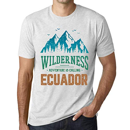 One in the City Hombre Camiseta Vintage T-Shirt Gráfico Wilderness Ecuador Blanco Moteado