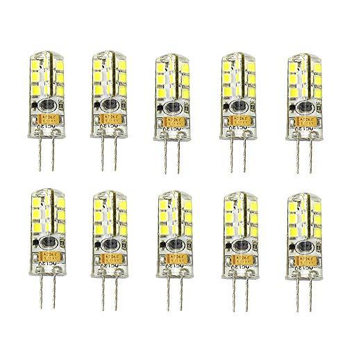 LED-Lampe, G4 7 W, High-End-Silikon, Wechselstrom / DC 12 V, 7 W, kaltweiß, 10 Stück, Cool White 6000k 5w, G4, 7.00W