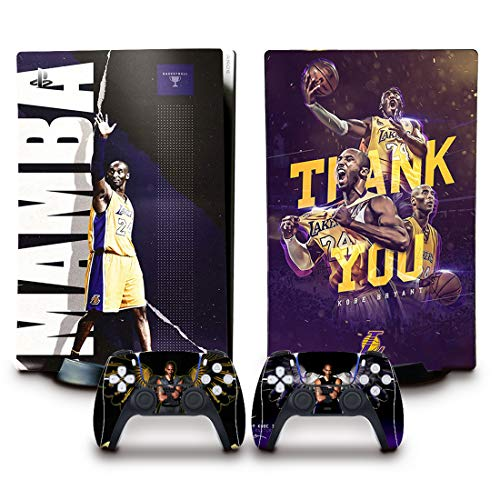 PS5 Skin(Basketball) for Console and Controllers Vinyl Sticker, Durable, Scratch Resistant, Bubble-Free, Compatible with Playstation 5 Disk Edition