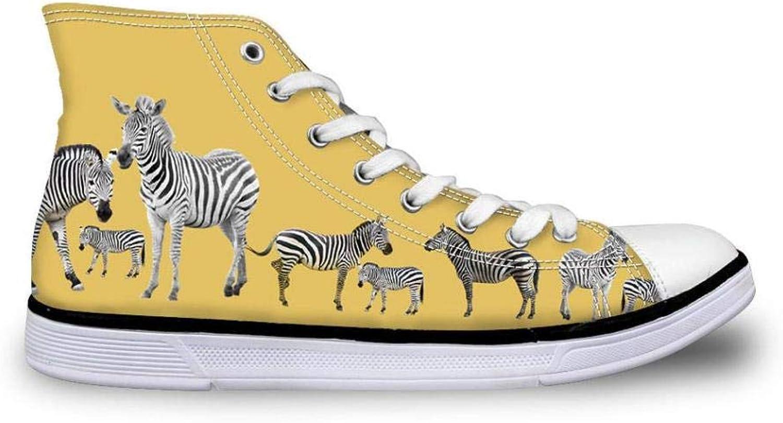 FidgetFidget Animal Bulldog Green Canvas shoes Women Girls Hi Tops Sneakers Comfy Pumps Women's US 8 Yellow CC3125AK