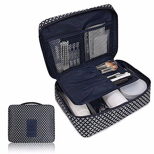 Alisy Cosmetic Makeup Bag, Mini Toiletry Travel Kit Organizer, Portable Washable Makeup Case for Travel