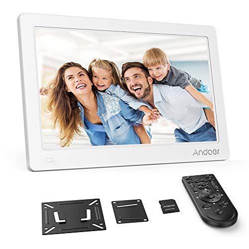 Andoer 15.6 Zoll Digitaler Bilderrahmen IPS Bildschirm unterstützt Kalender/Uhr / MP3 / Fotos / 1080P Video Player mit Wandhalterung + 8 GB Speicherkarte 1920x1080 hohe Auflösung