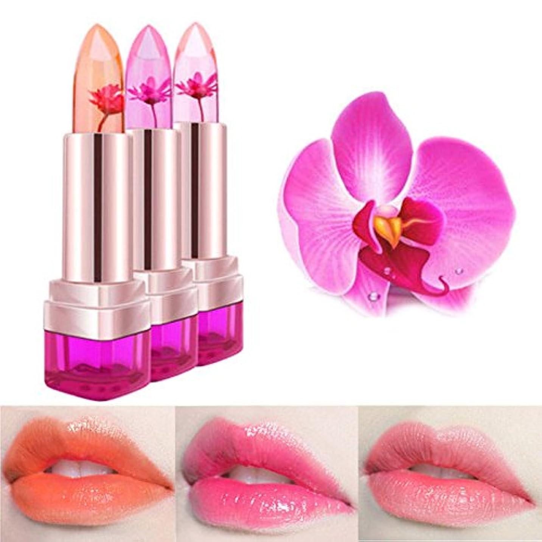 あなたは鮫楽しむToygogo 長続きがする唇の光沢の美を変える3pc魔法のゼリーの花の口紅色 - 04, ワンサイズ