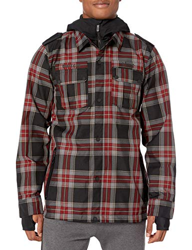 Volcom Men's Creedle2stone Military Style Snow Jacket, Red, Medium