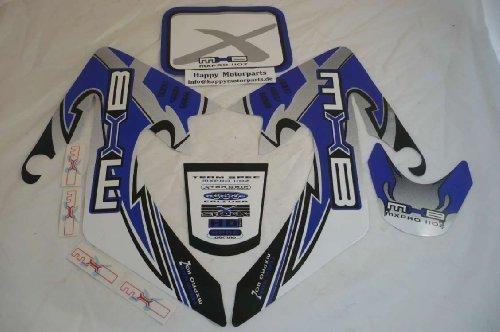 Hmparts Pit Bike / Dirt Bike Top Set de Pegatinas X - Azul