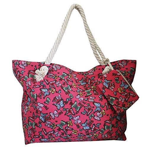 FERETI Bolsa Con Mariposa Viaje Playa Bebé Para Compras Tela Mariposas Cuerda Shopper