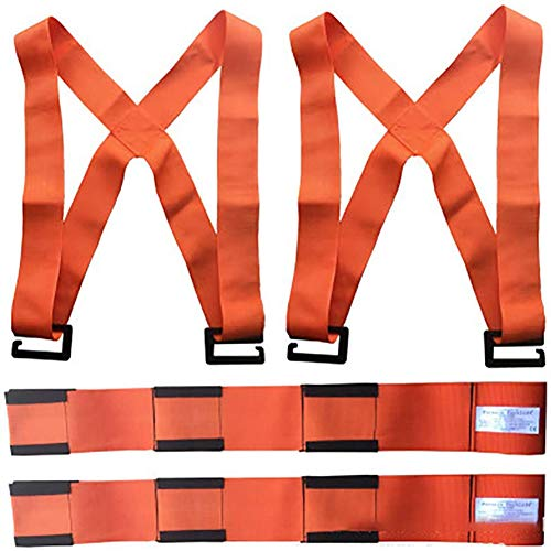 Zidao Carrying Straps Moving Lifting, Motion System - Forearm Forklift Lifting Straps Furniture Conveyor Belt,Orange