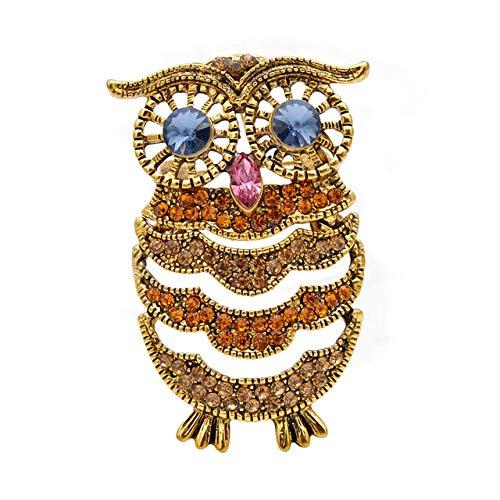 Broches lindos del búho para las mujeres Vintage Animal Bird Pin