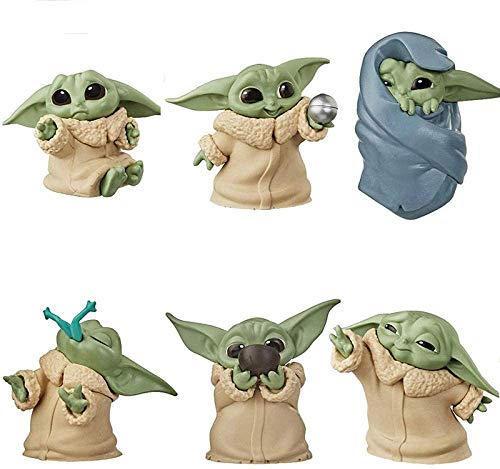 6pcs Yoda Baby Collecting Toys (5-6cm) Character Action Model, Suitable for Children