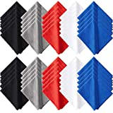 50 Pieces Microfiber Cleaning Cloths 7 x 6 Inch Screen Cleaning Cloths for Smart Phones Laptops Tablets Lens LCD Monitor TV Camera Eyeglasses Optical Cleaning Cloths (Multi-Color)