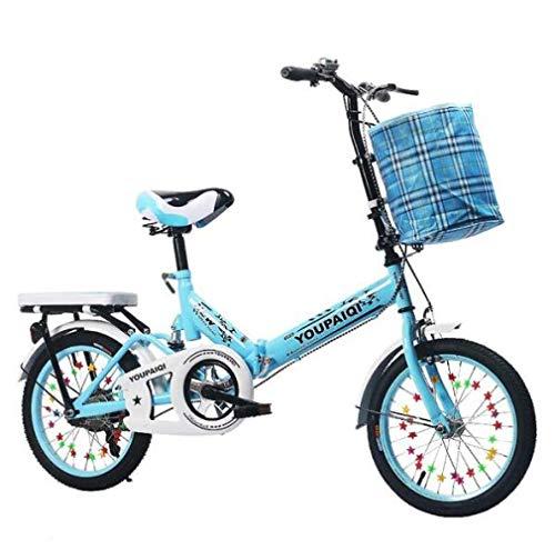 LFEWOZ Ciclismo Road Città Biciclette Leggero Ammortizzante Bicicletta Pieghevole BMX Bicyclescruiser Biciclette monomarcia con Manubrio Regolabile e Il Sedile BMX