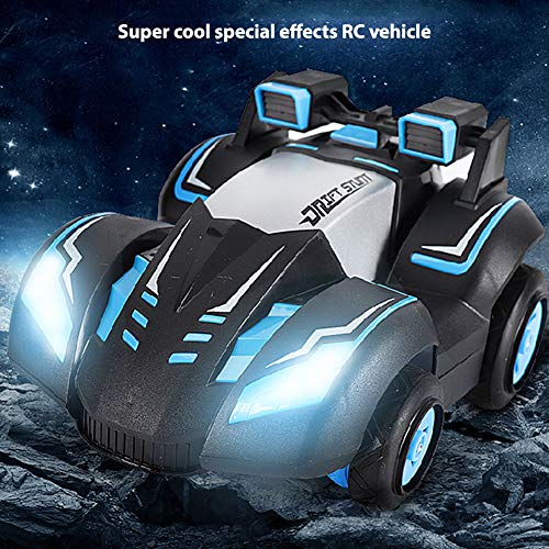 Amyove Ferngesteuertes Stunt Auto, Hochgeschwindigkeits Drift Auto Aufrechtes Geländewagen Spielzeug Blau Stunt-Auto