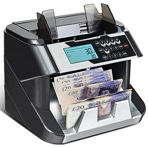 GYMAX Banknote Counter, Currency Bill Counterfeit Detector with LED Display...