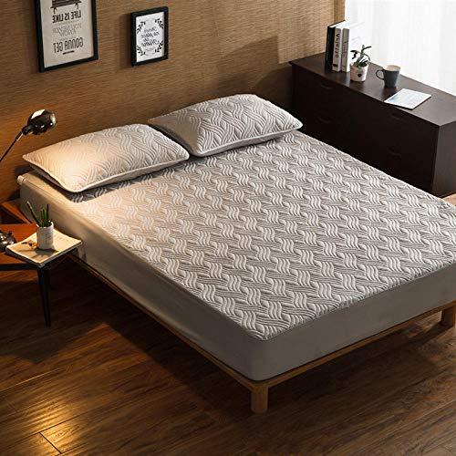 CYYyang Protector de colchón, algodón, poliéster, Una Sola Pieza de Funda Protectora de Color Puro para sábana-4_90 * 200cm