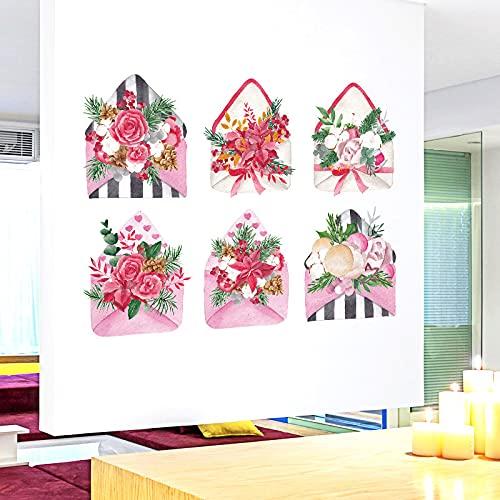ZXXC sobre Ramo romántico Dormitorio mesita de Noche sofá gabinete Pasillo de Entrada Comedor TV decoración Pegatinas de Pared